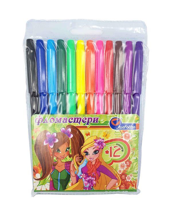 Фломастеры 12 цветов 828D-12