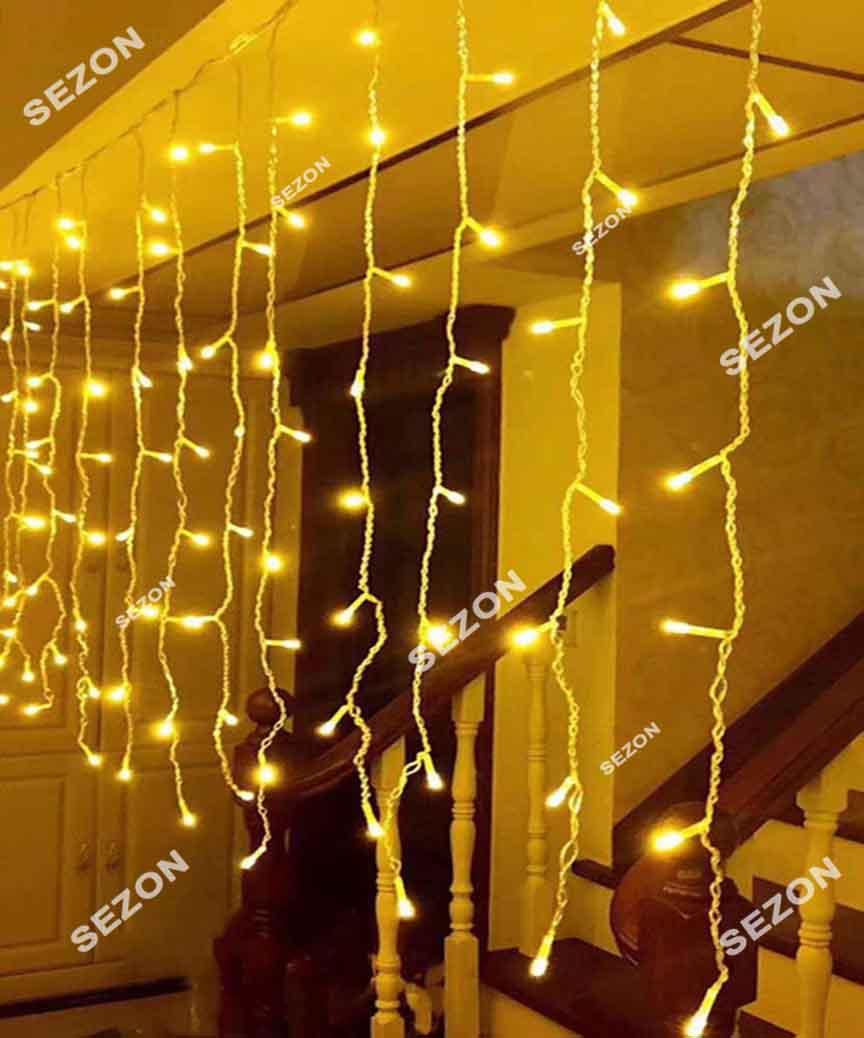Бахрома 80 LED 2м*0.5м, білий теплий