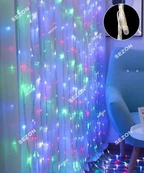 Купить Водоспад- лінза 8мм 320 LED 3м*2м, мульті
