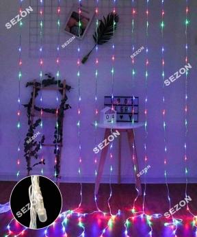 Купить Водоспад- лінза 8мм 320 LED 3м*1,5м, мульті