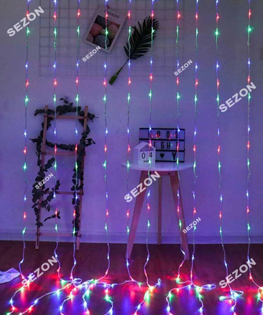 Водоспад 300 LED 3м*1,5м (8 режимів+ статичн),  мульті