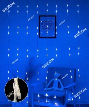 Купить Водоспад- лінза 8мм  320 LED 3м*1,5м, синій
