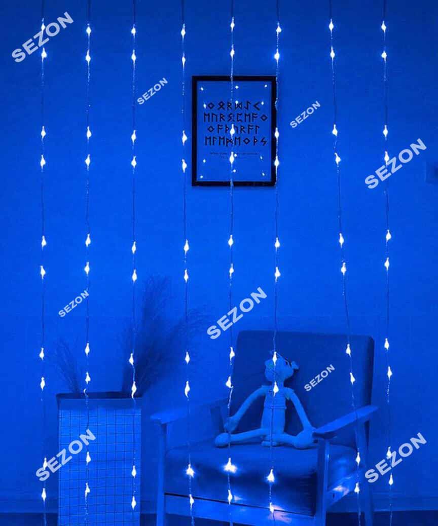 Водоспад 144 LED 1,5м*1.5м,  синій