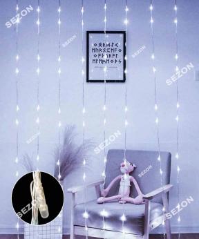 Купить Водоспад- лінза 8мм  320 LED 3m*1,5m білий