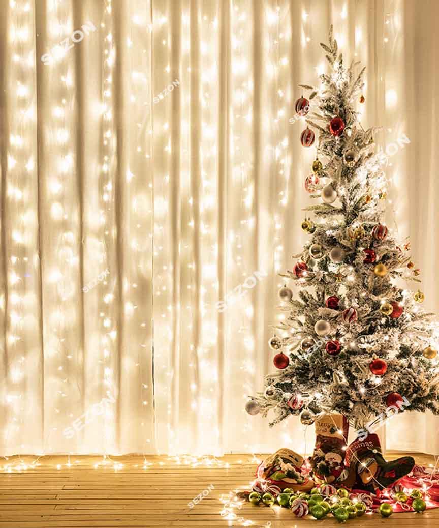 Штора 240 LED 3м*1.5м, білий теплий