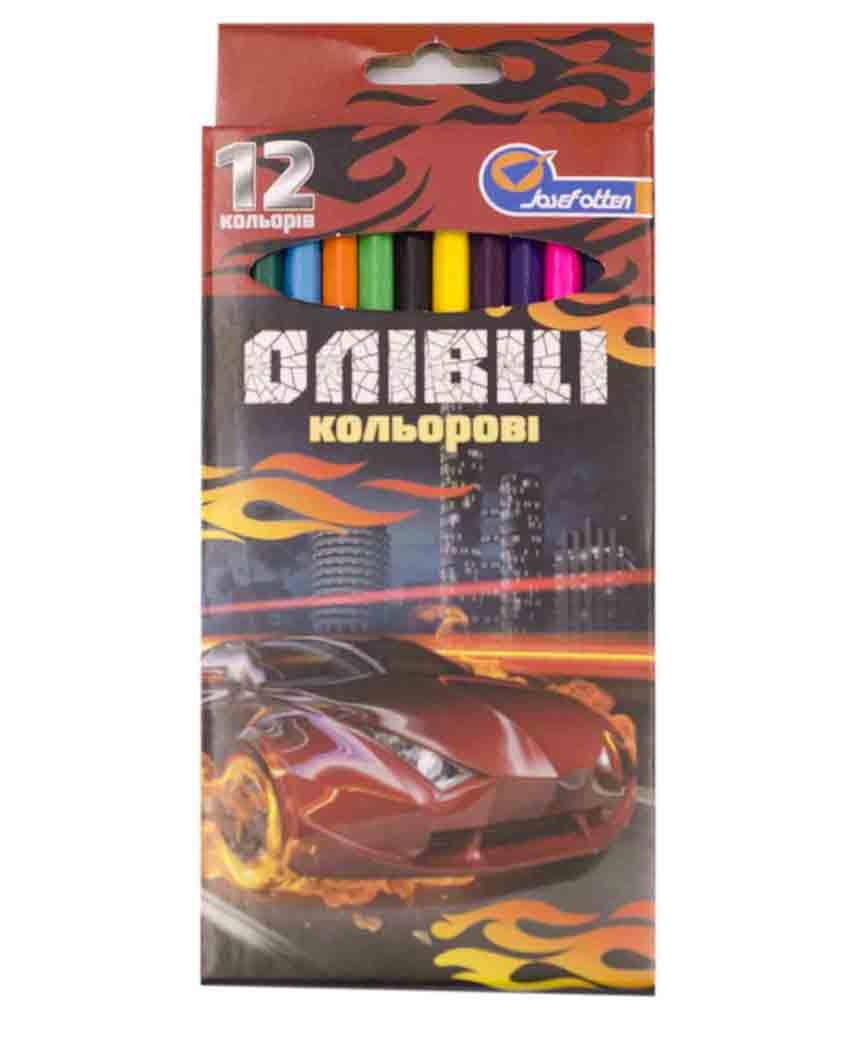 Карандаши 12 цветов картон/упак Josef 7303-12A