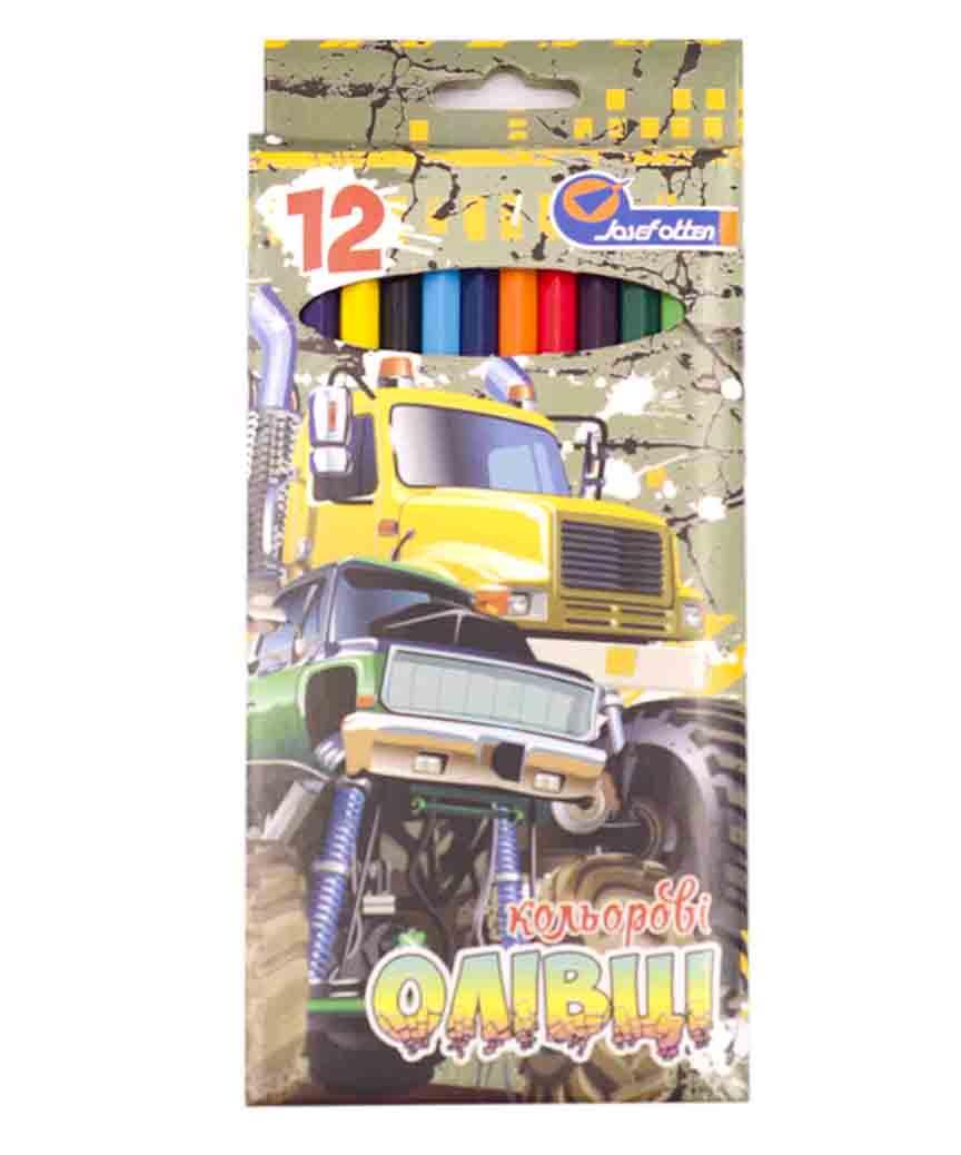 Карандаши 12 цветов картон/упак Josef 7303-12B