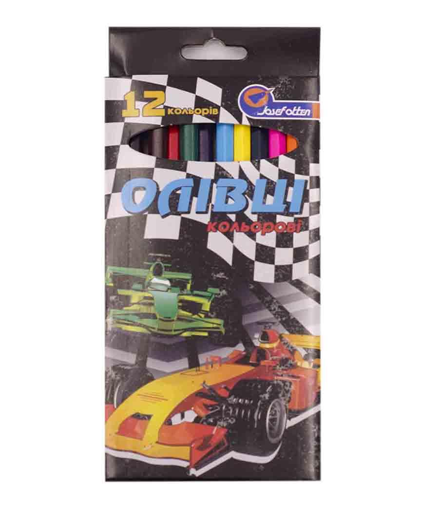 Карандаши 12 цветов картон/упак Josef otten, для мальчиков микс
