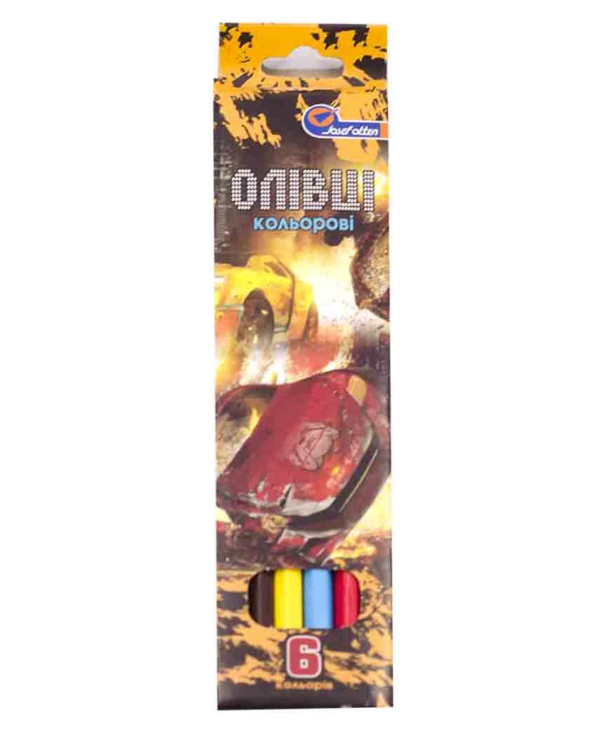 Карандаши 6 цветов картон/уп  J. Otten микс