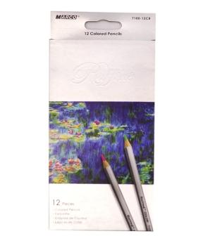 Купить Карандаши 12 цветов, серые MARCO 7100-12CB