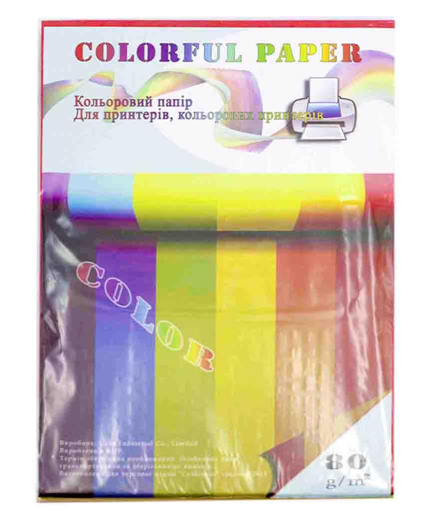 Папір для ксерокса.кольоровий.А4,100арк,80гр/м.кв