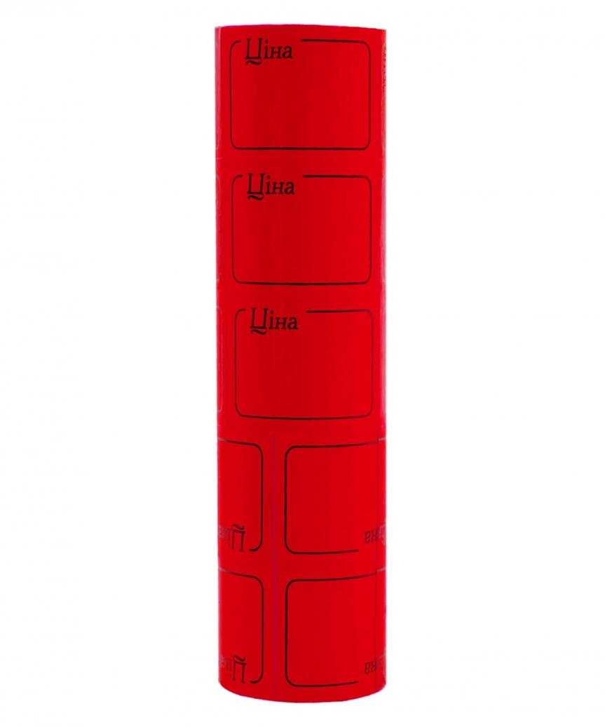Ценник с рамкой  38*28мм,  4м  красный (5шт/уп) Т-23