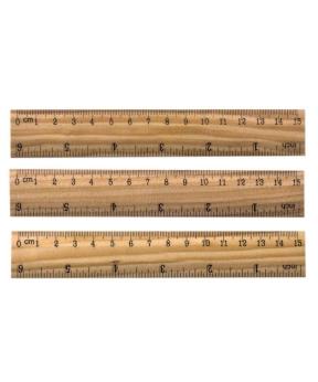 Купить Линейка деревянная 15см 815