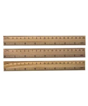Купить Линейка деревянная 20см 820