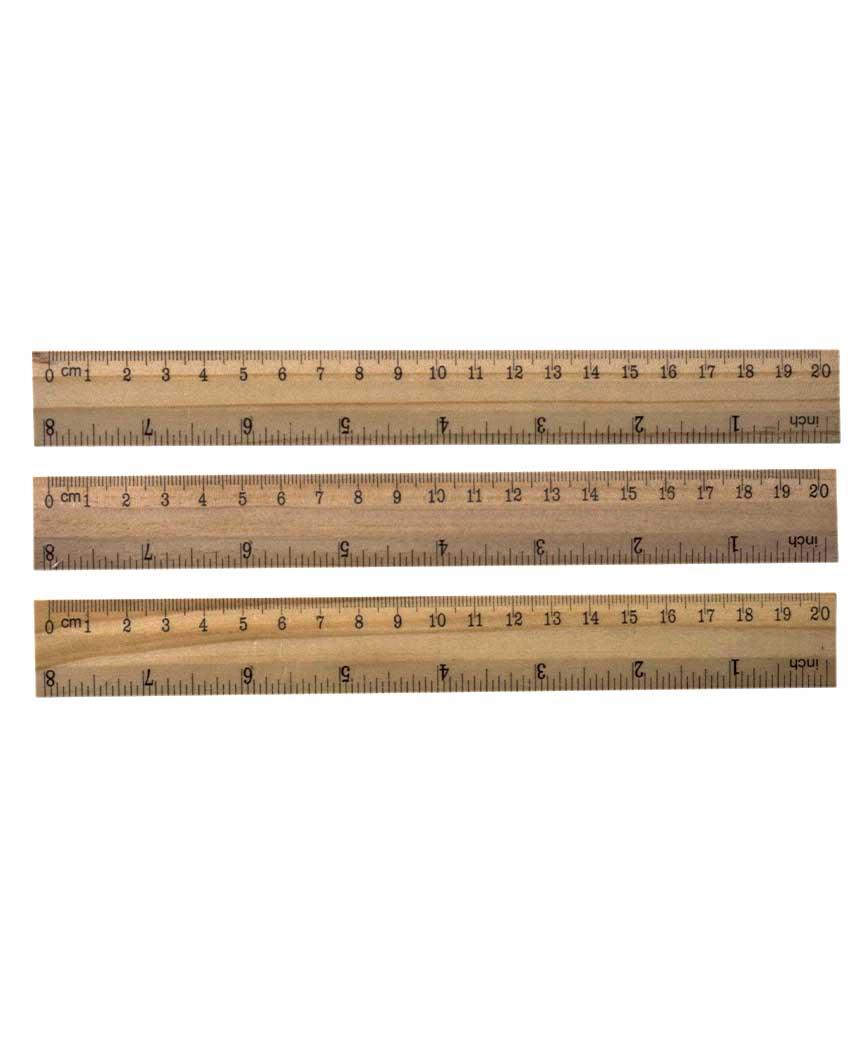 Линейка деревянная 20см 820