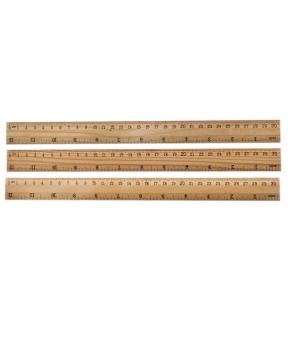 Купить Линейка деревянная 30см 830