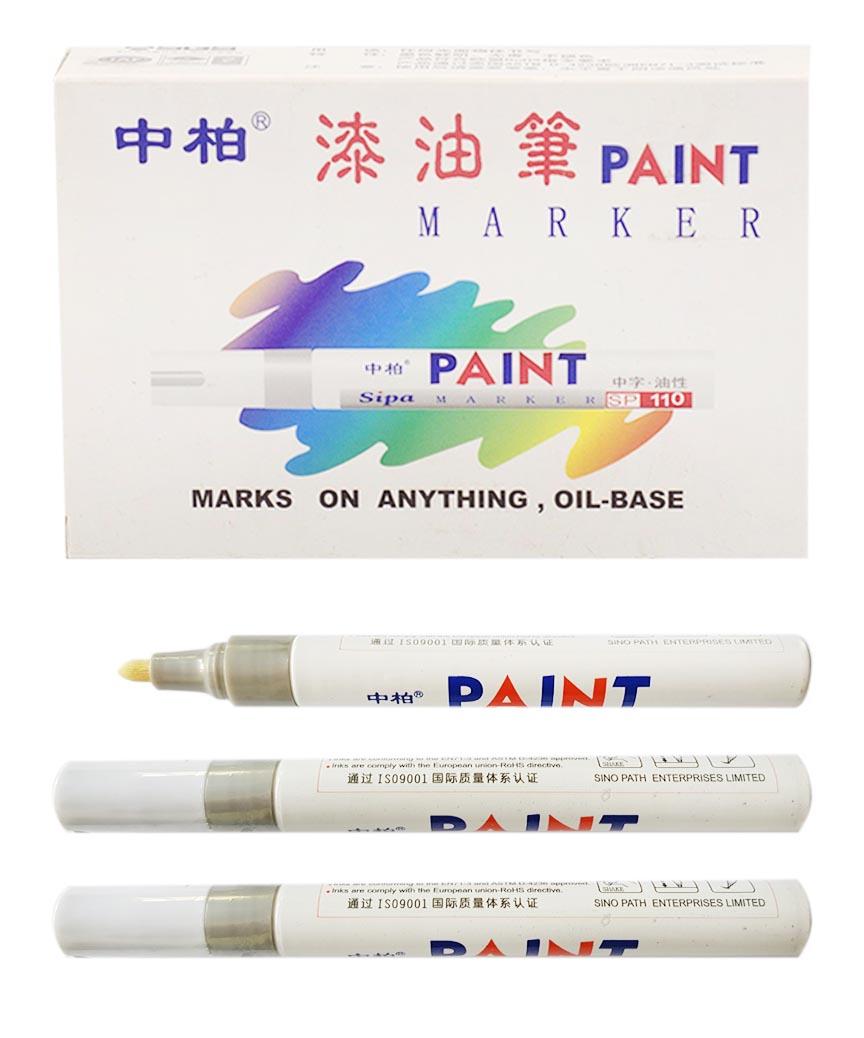 Маркер краска SP-110 серебро