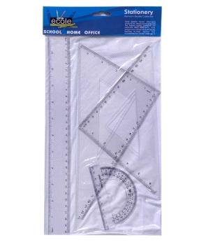Купить Набор линеек пластиковый,прозрачный 30см. РГЛ4-1