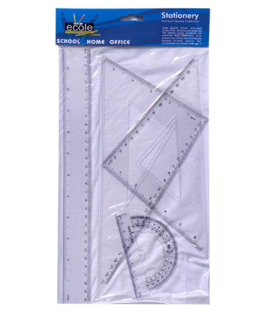 Набор линеек пластиковый,прозрачный 30см. РГЛ4-1