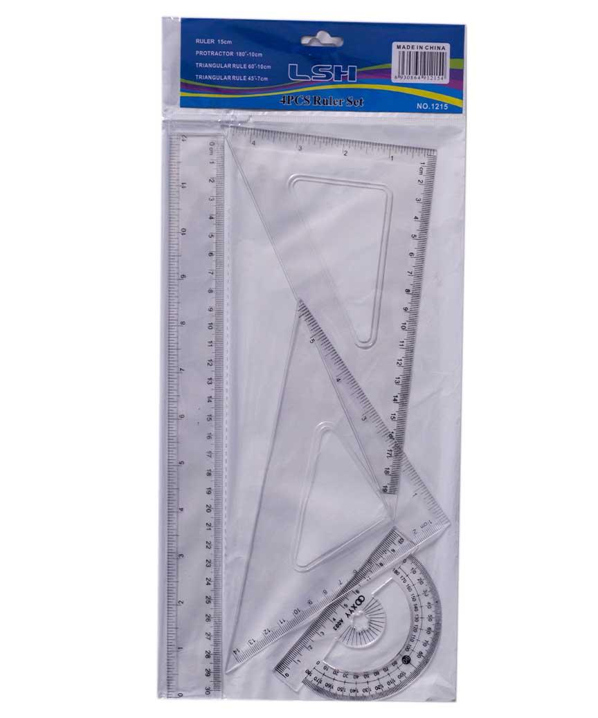 Набор линеек пластиковый 30см прозрачный 1215