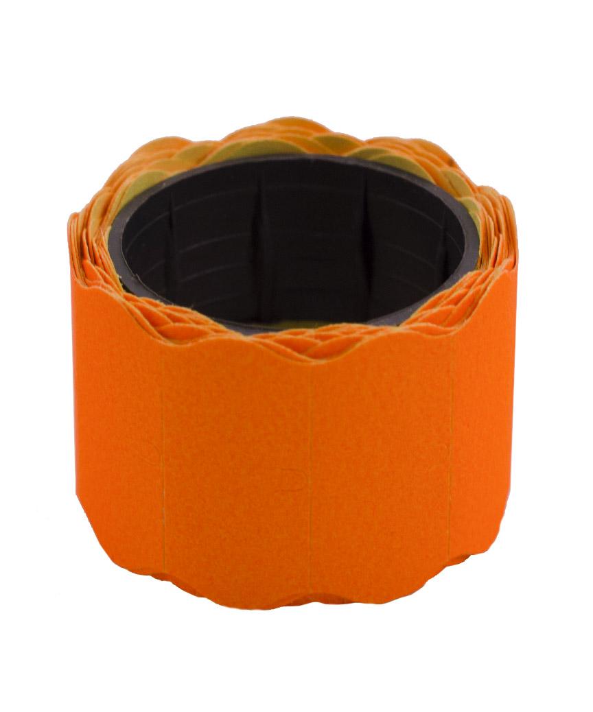 Ценник фигурный  26*12мм,  4м  помаранчевый  (6шт/уп) Т-10