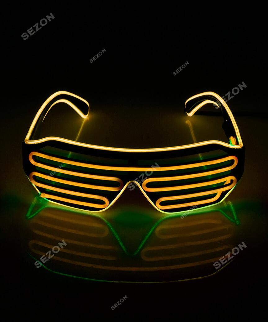 Неонові окуляри-штори (решетка) HM-67
