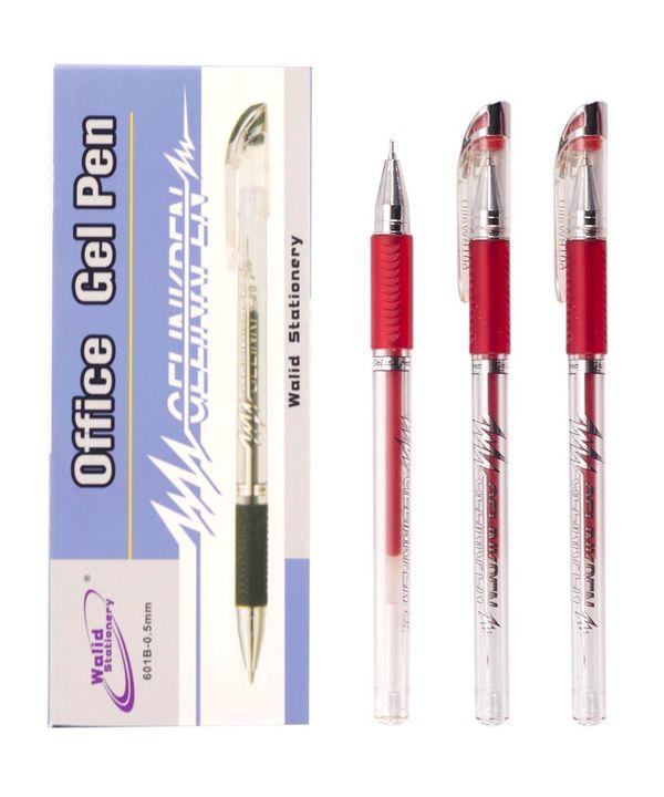 Ручка гелевая 601, красная