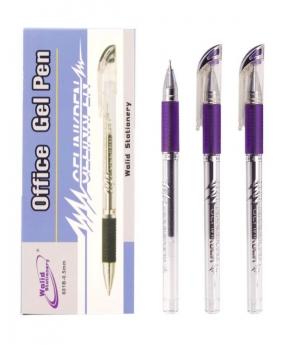 Купить Ручка гелевая 601, фиолетовая