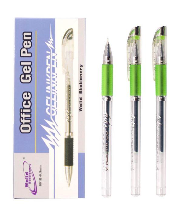 Ручка гелевая 601, зеленая