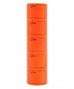 Купить Ценник с рамкой  38*28мм,  4м  помаранчевый (5шт/уп) Т-26