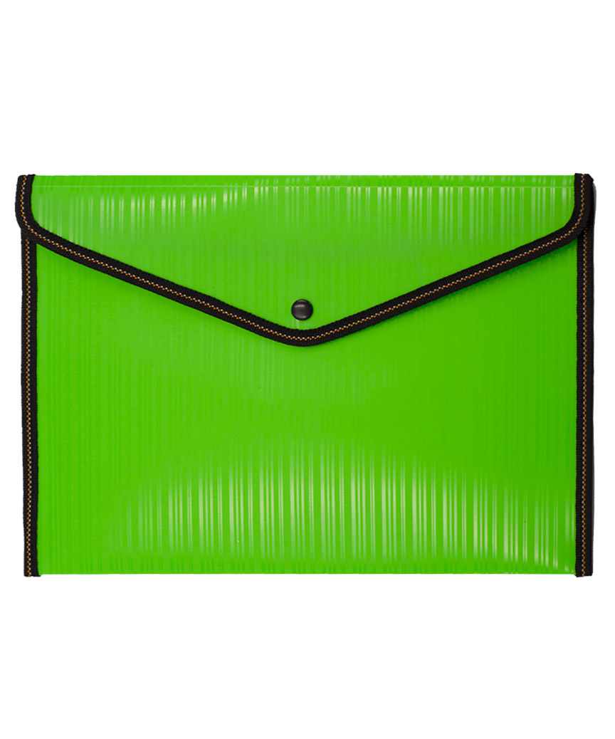 Папка-конверт на кнопке  56-1 зеленая