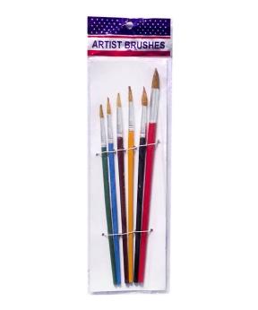 Купить Набор кисточек цветной 6шт 577-6