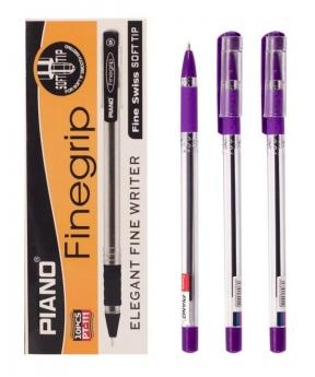 """Купить Ручка масляная PIANO PT-111-10 """"Finegrip"""", фиолетовая"""