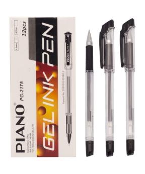 Купить Ручка гелевая PIANO PT-2175, черная