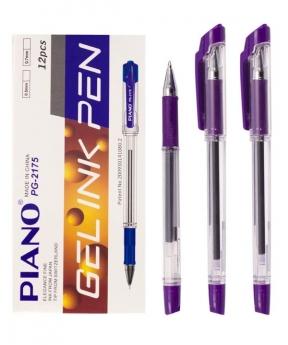 Купить Ручка гелевая PIANO PT-2175, фиолетовая