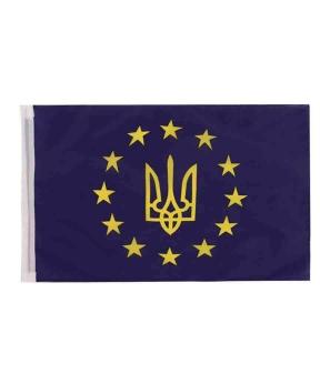 """Купить Прапор на бокове скло авто""""Євросоюз"""" 30см*45см(поліестер)"""