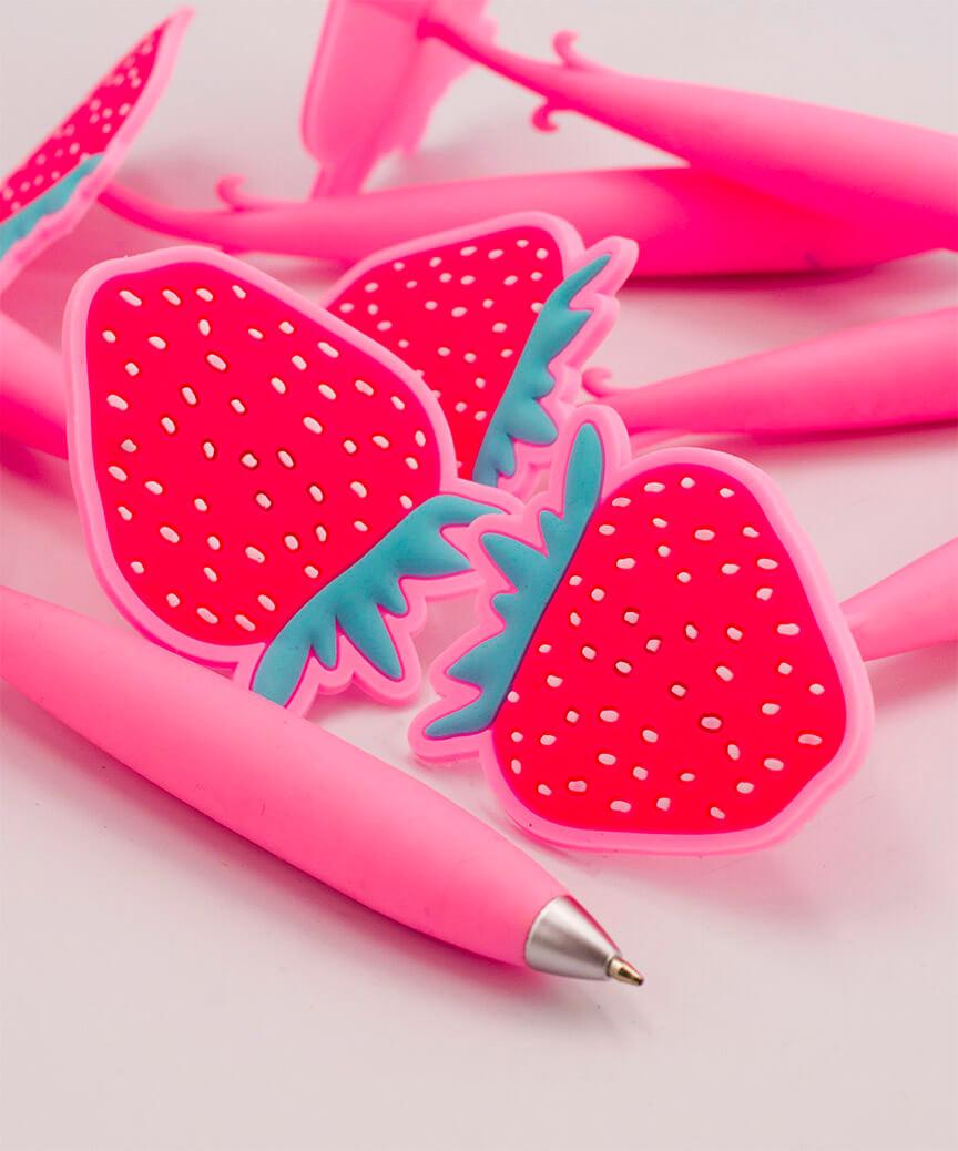 Ручка детская масляная синяя R3009 клубника