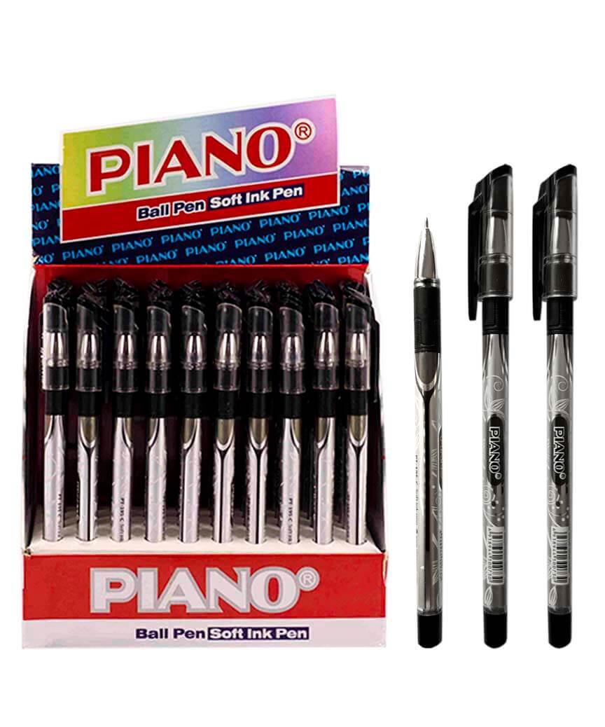 Ручка масляная PIANO PT-195-С, черная