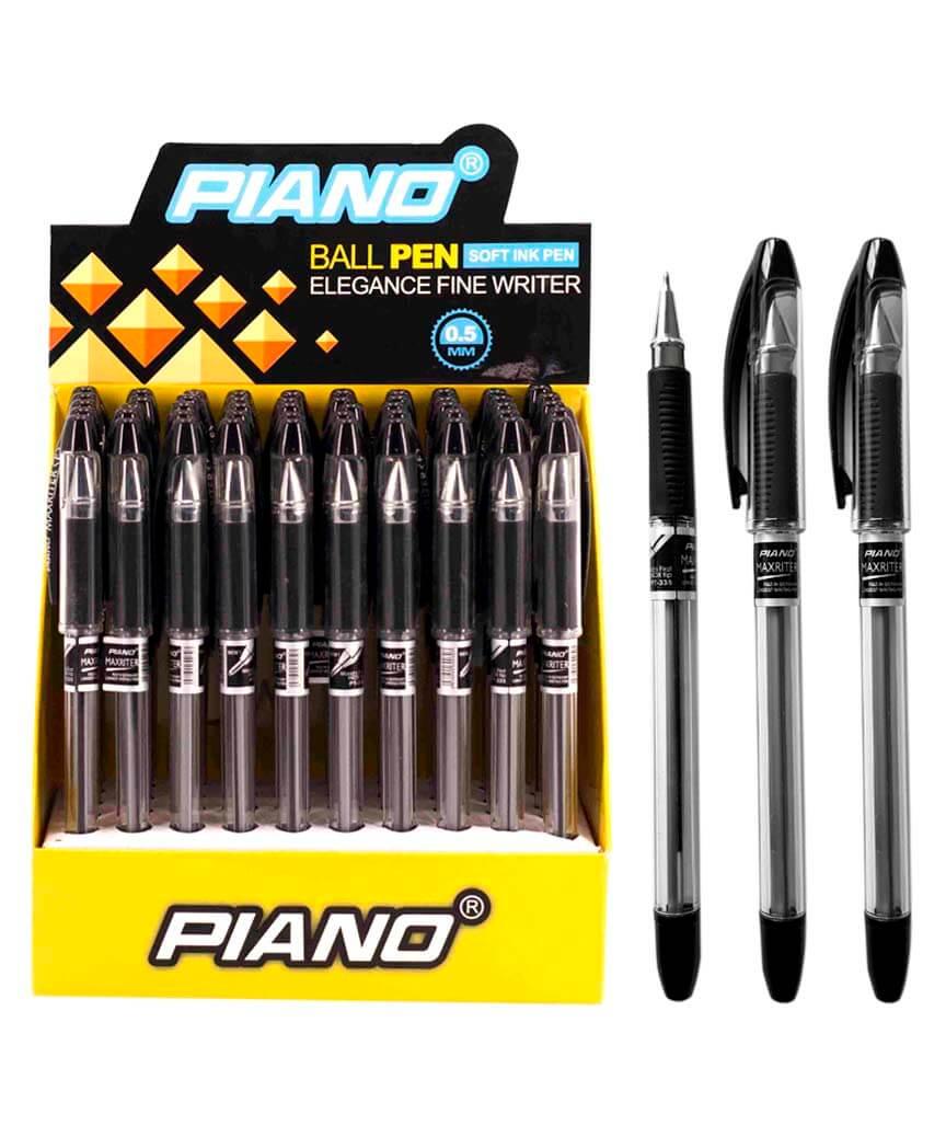 Ручка масляная PIANO PT-335 50шт, черная