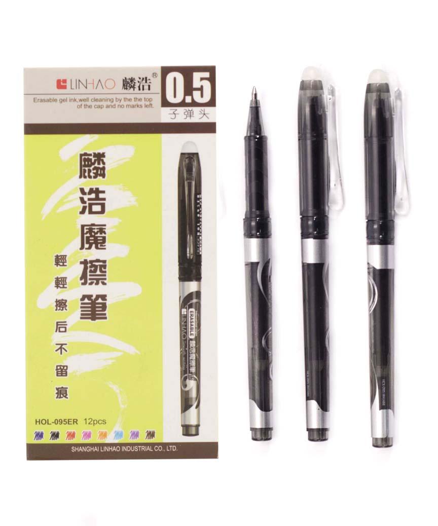 Ручка гелевая пишет- стирает  HOL-095, черная
