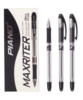 Купить Ручка масляная PIANO PT-335 10шт, черная