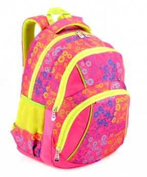 Купить Рюкзак подростковый 4103 розовые кружочки 40*27*16см
