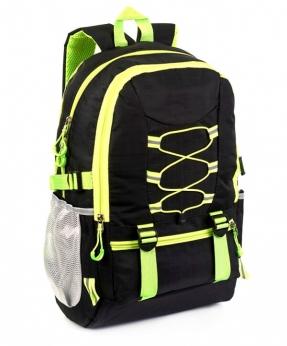 Купить Рюкзак чёрний 4112 с жёлтыми шнурками 47*30*14см