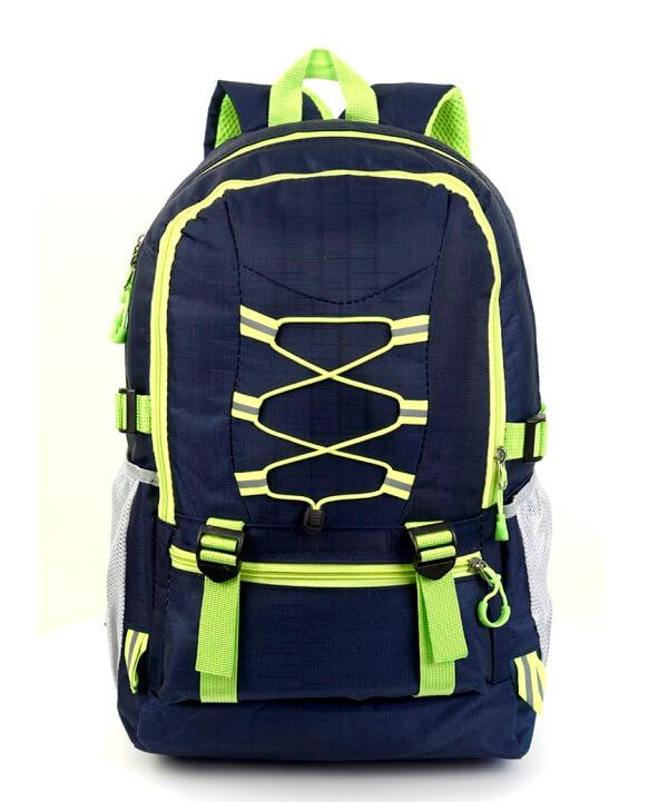 Рюкзак тёмно-синий 4113 c жёлтыми шнурками 47*30*14см