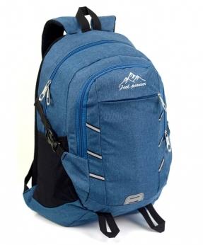 Купить Рюкзак молодёжный 4122 синие Горы 49*29*17см