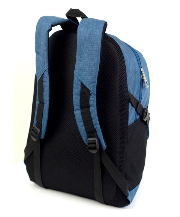Рюкзак молодёжный 4122 синие Горы 49*29*17см