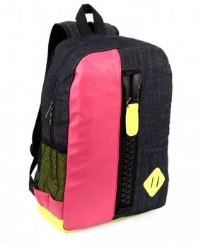 Купить Рюкзак молодёжный 4125 чёрно-розовый с замком 44*29*12см