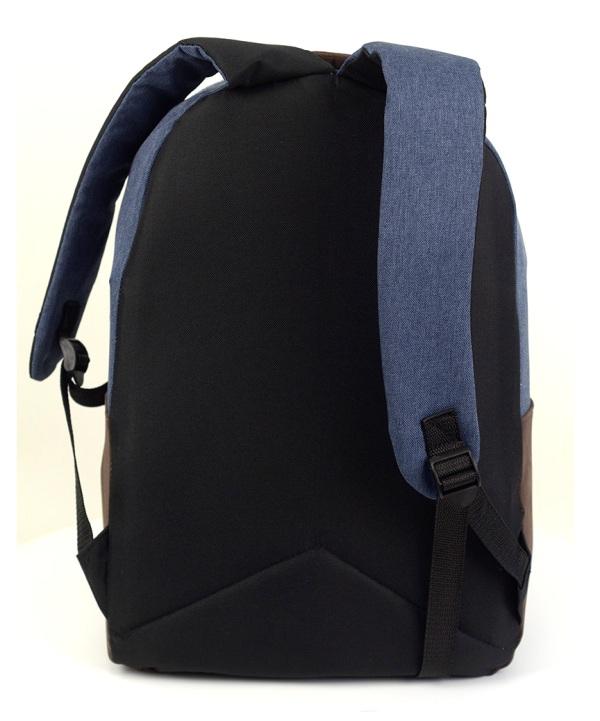 Рюкзак молодёжный 4128 тёмно-синий 45*30*12см