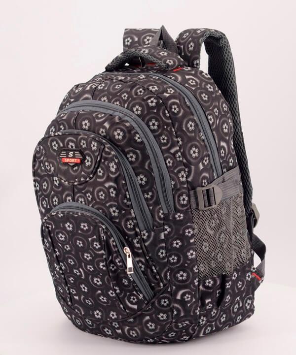 Рюкзак подростковый 4149 черный футбол 41*29*18см