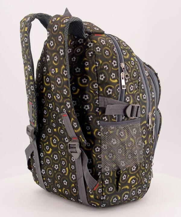 Рюкзак подростковый 4149-2 хаки футбол 41*29*18см
